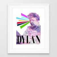 dylan Framed Art Prints featuring Dylan by Coyvan