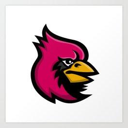 Cardinal Bird Head Mascot Art Print