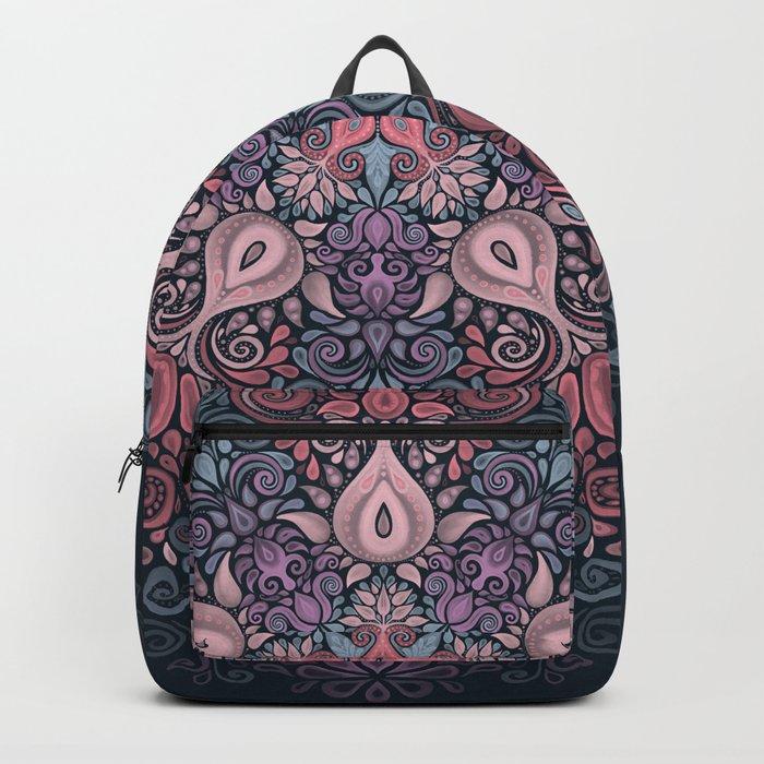 Baroque Garden, Ornate Watercolor Pattern Backpack