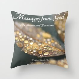 """Book Cover for """"Messages from God: An Illuminated Devotional"""" Throw Pillow"""