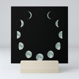 Moon phases Mini Art Print