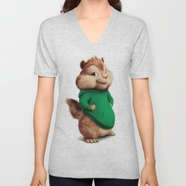 Theodore the cutes chipmunk Unisex V-Neck