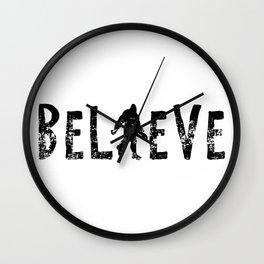 I Believe Yeti Bigfoot Sasquatch Wall Clock