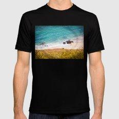 Rocks and Ocean View Mens Fitted Tee MEDIUM Black