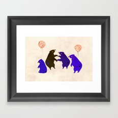 A Sleepy bear birthday Framed Art Print