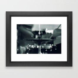 Jazz Drummer Framed Art Print