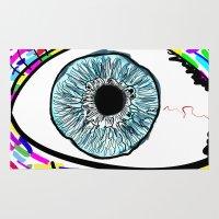 iris Area & Throw Rugs featuring Iris by Beyond Infinite