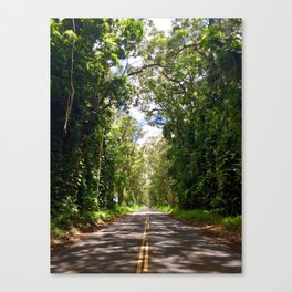 Tree Tunnel, Kauai, Hawaii Canvas Print