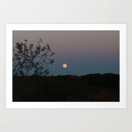 Beautiful Full Yellow / Orange Moon Art Print