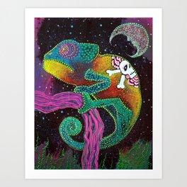 Midnight Chameleon Art Print
