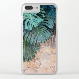 Monstera Print, Tropical Green Beauty Clear iPhone Case