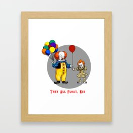 They All Float Kid Framed Art Print