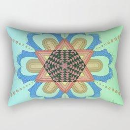 La flor de peces Rectangular Pillow