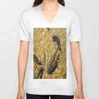 trout V-neck T-shirts featuring Trout by Impromptu;
