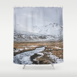 Heading to the Mountains - Landscape and Nature Photography Shower Curtain