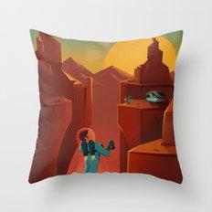 DISCOVER MARS - Valles Marineris | Space | X | Canyon | Retro | Vintage | Futurism | Sci-Fi Throw Pillow