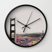 girl Wall Clocks featuring It's in the Water by Bianca Green