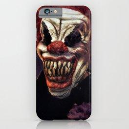 Scary Clown Purple Smoke iPhone Case