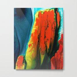 Red Abstract Modern Art - A Little Lava - Sharon Cummings Metal Print
