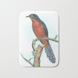 Chestnut Breasted Cuckoo, tropical bird in the nature of Australia & Indonesia Bath Mat