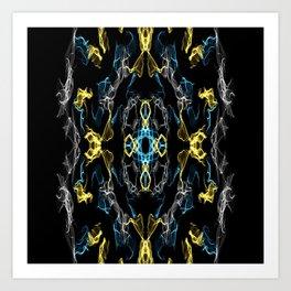 Abstract Silk Drawing Art Print