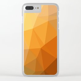 Shades Of Orange Triangle Abstract Clear iPhone Case
