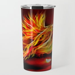 Phoenix Bird Fire Travel Mug