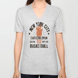 Basketball New York Unisex V-Neck