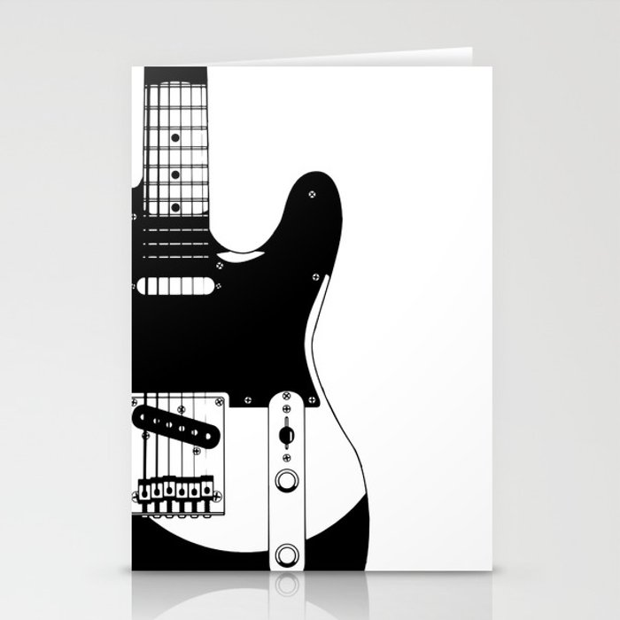 Electric Guitar Drawing Stationery Cards By Homestead Society6