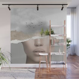 minimal collage /silence2 Wall Mural