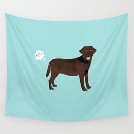 Chocolate Lab funny fart dog breed gifts labrador retrievers Wall Tapestry