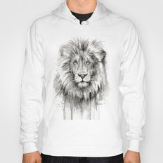 Lion Watercolor Animal Hoody