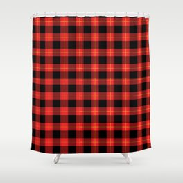 Red Buffalo Plaid Flannel Pattern Shower Curtain