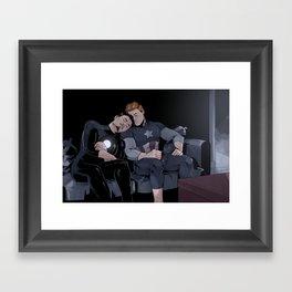 Sleepy Superheroes Framed Art Print