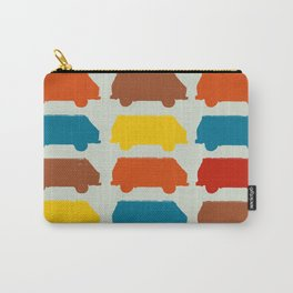 Retro Camper Van Repeating Image Pattern Pop-Art Carry-All Pouch