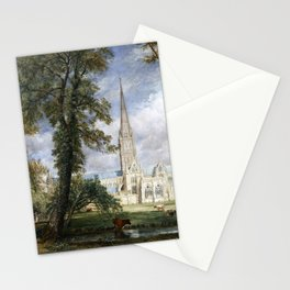 John Constable Salisbury Cathedral from the Bishop's Garden Stationery Cards