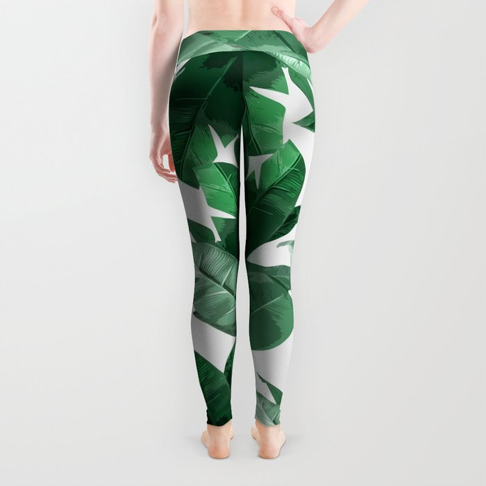 Tropical Palm Print Leggings