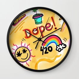DOPEST DOPE Wall Clock