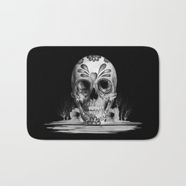 Pulled sugar, day of the dead skull Bath Mat