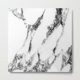 white marble III Metal Print