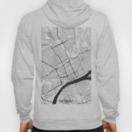 Detroit Map Gray Hoody