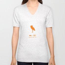 shoebill orange Unisex V-Neck