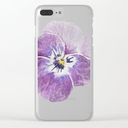 Light Pink Pansy Clear iPhone Case