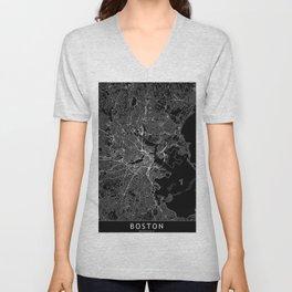 Boston Black Map Unisex V-Neck