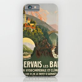 old placard PLM St Gervais les Bains iPhone Case