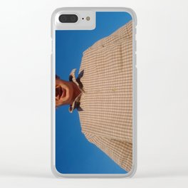 Woah, hair stands a god before us Clear iPhone Case