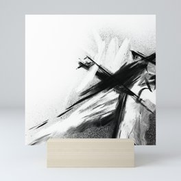 XA 00 7 - Abstract Monochrome Mini Art Print