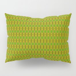 Heliconia Green Gold Stalks Pattern Pillow Sham