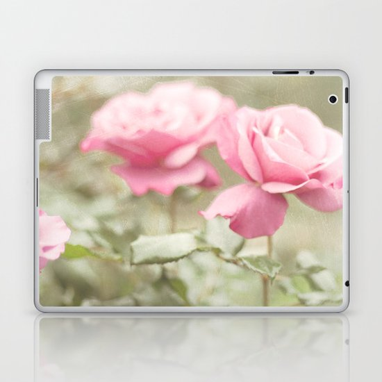 Textured and Pastel roses (vintage flower photography) Laptop & iPad Skin