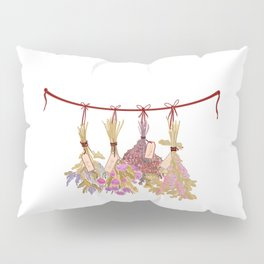 HERBS in Pastel Color #Purple Pillow Sham